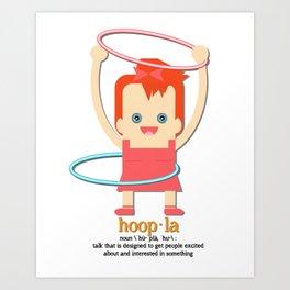 Hoopla Hula Hoop Ginger Art Print