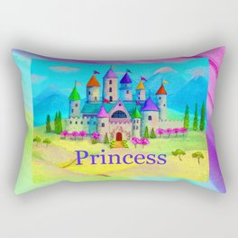 Colorful Princess Castle Rectangular Pillow