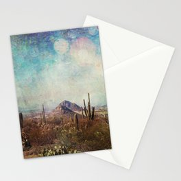 Two little mountains textured Stationery Cards