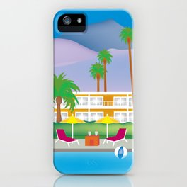 Palm Springs, California - Skyline Illustration by Loose Petals iPhone Case