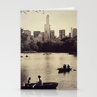 central park Stationery Cards featuring Central Park by C Liza B