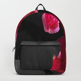 Solo Red Orchid on Grey Background #decor #society6 Backpack