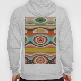 Oval Circles and Curves in Bright Aqua, Gold, Orange, Purple, and Green Hoody