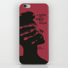 The Man who Knew Too Much, Alfred Hitchcock, minimal movie poster, alternative film playbill, cinema iPhone Skin