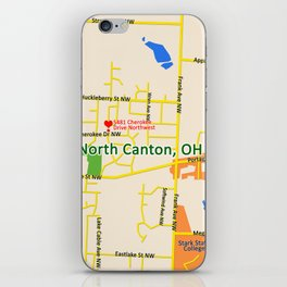 Map of North Canton, OH iPhone Skin