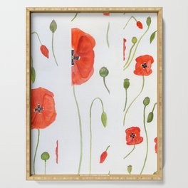poppies in lines N.o 1 Serving Tray