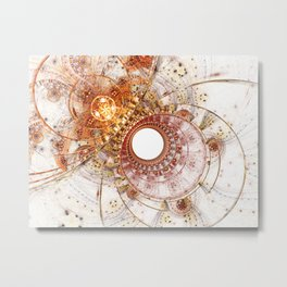 Fiery Temperament - Abstract Fractal Artwork Metal Print