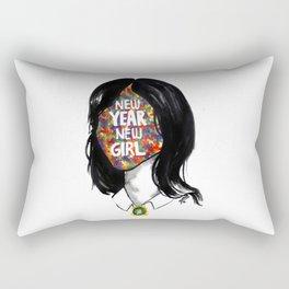 New year new  girl Rectangular Pillow