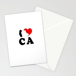 I Love CA Stationery Cards