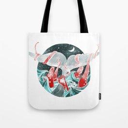 Moby Dick versus Kraken Tote Bag