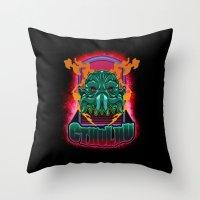 cthulhu Throw Pillows featuring CTHULHU by Gerkyart.