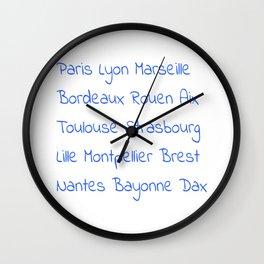 France's Cities- France, Français,française, French,romantic,love,gastronomy Wall Clock