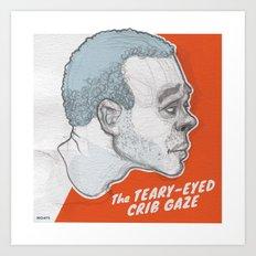The Teary-Eyed Crib Gaze Art Print