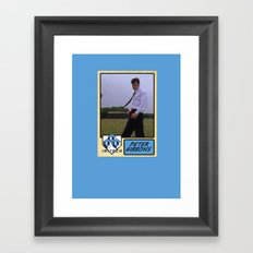 Peter Gibbons Baseball Card Framed Art Print