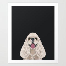 Harper - Cocker Spaniel phone case gifts for dog people dog lovers presents Art Print