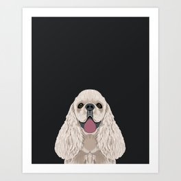 Harper - Cocker Spaniel phone case gifts for dog people dog lovers presents Art Print