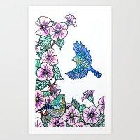 Birds and Blossom Art Print