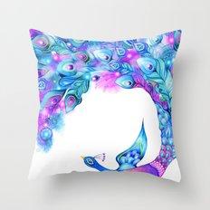 Peacock Fantasy Throw Pillow