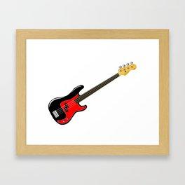 Fretless Bass Guitar Framed Art Print