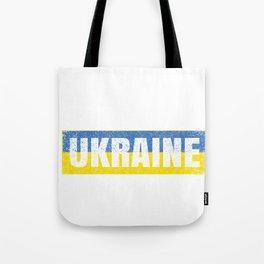 Ukrainian National Flag Vintage Ukraine Country Gift Tote Bag