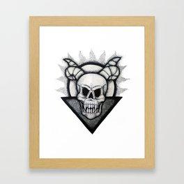 Demon Skull Framed Art Print