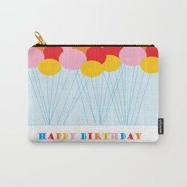 Happy Birthday Balloons Carry-All Pouch
