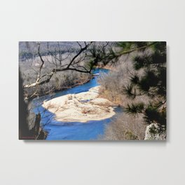 Climbing Up Sparrowhawk Mountain above the Illinois River, No. 6 of 8 Metal Print