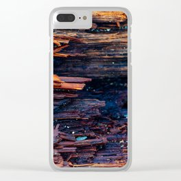 Wood grain Clear iPhone Case