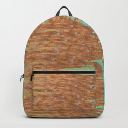 Jagged Turquoise and Copper Design Backpack