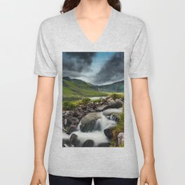Tryfan and Ogwen Lake Unisex V-Neck