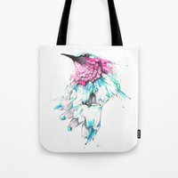 hummingbird Tote Bags featuring Hummingbird by Alexis Marcou