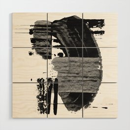 shape shift. black 02 Wood Wall Art