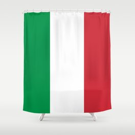 National Flag of Italy, High Quality Image Shower Curtain