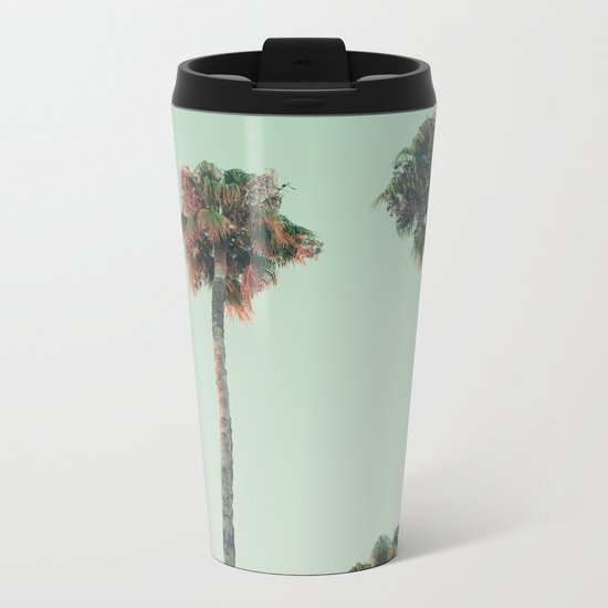 Palm trees at sunset Metal Travel Mug