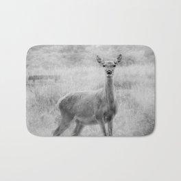 Doe A Deer A Female Deer, In Mono Bath Mat