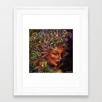 medusa Framed Art Prints featuring Medusa.... by shiva camille