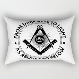 Freemasonry emblem Rectangular Pillow