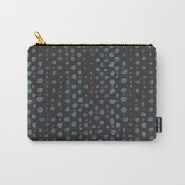 Dots and Stars (Black) Carry-All Pouch