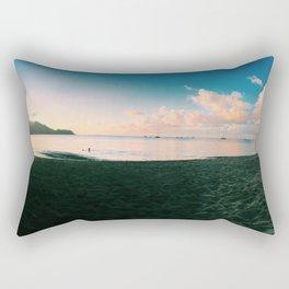 sand meets water Rectangular Pillow