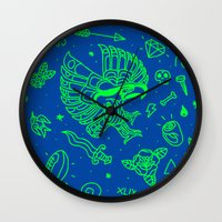 seahawks Wall Clocks featuring Seahawks Super Bowl Champion by Maioriz Home