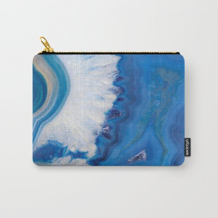 Blue quartz agate Carry-All Pouch