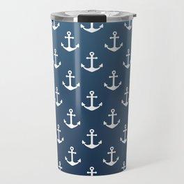 Anchor Pattern Travel Mug