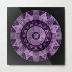ethnic circle with watercolors Metal Print