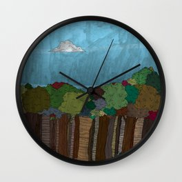 BigFoot Forest (Colour) Wall Clock