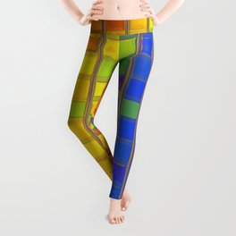 square rainbow Leggings