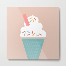 Ice Cream (Peach) Metal Print
