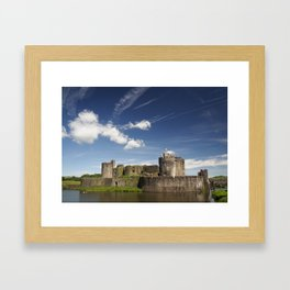 Caerphilly Castle, Wales. Framed Art Print