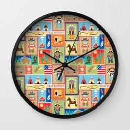 Wild West Wall Clock