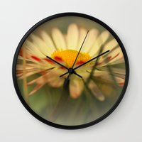 daisy Wall Clocks featuring Daisy by Falko Follert Art-FF77