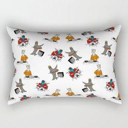 Flock of Gerrys Band Print Rectangular Pillow
